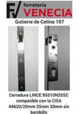 Cerradura LINCE 95510N20SC,Lince 95510N20sc,CISA 44620-20mm,CISA 44620/20,CISA 44620-30mm,CISA 44620/30,