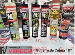 MS Tech Fischer, Pegamento MS Tech, Cemento xpress, cemento fischer,pegamento polímero, polímero fischer, Taco químico Fischer,